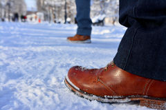 Chaussures d'hiver Photographie stock