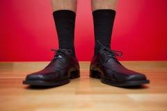Chaussures d'homme d'affaires Photographie stock