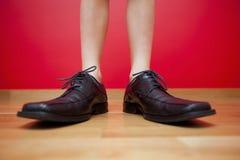 Chaussures d'homme d'affaires Photos libres de droits