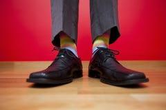 Chaussures d'homme d'affaires Photo libre de droits