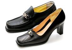 Chaussures d'homme et chaussures de dame photos stock