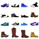 Chaussures d'homme réglées Photo stock