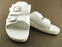 Chaussures d'intérieur blanches Photographie stock
