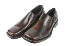 chaussures d'isolement par robe Images stock