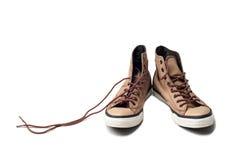 Chaussures d'isolement sur le blanc Photo libre de droits