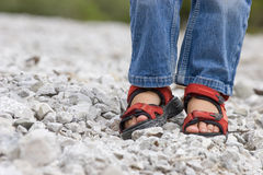Chaussures d'un enfant Photographie stock libre de droits
