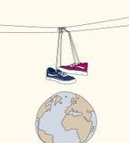 Chaussures dans l'espace Illustration Stock