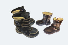 Chaussures de bébé pour la chute et le printemps Images libres de droits