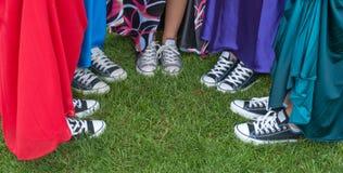 Chaussures de bal d'étudiants Photographie stock libre de droits
