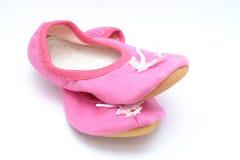 Chaussures de ballet roses Photographie stock libre de droits