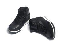 Chaussures de basket-ball sur le blanc Photographie stock