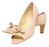 Chaussures de beige de dames Photo stock