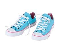 Chaussures de bleu de cru Photo libre de droits