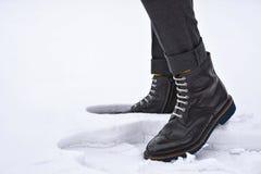 Chaussures de brogue d'hommes Photographie stock libre de droits
