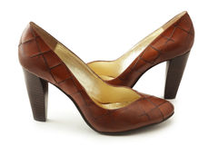 Chaussures de Brown Photographie stock