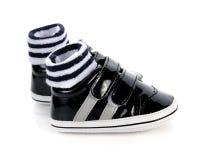 chaussures de chéri blanches Images stock