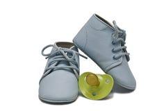 Chaussures de chéri bleue. Image stock