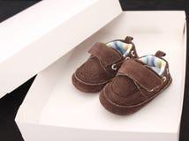 Chaussures de chéri de Brown Images libres de droits