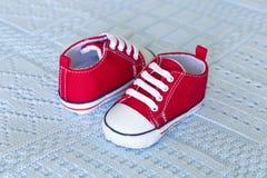 Chaussures de chéri rouges Photographie stock