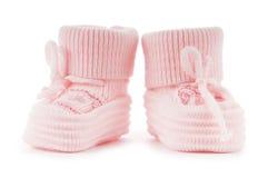 Chaussures de chéri tissées d'isolement sur le blanc Photos stock
