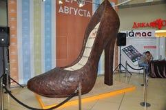 Chaussures de chocolat photos libres de droits