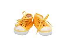 Chaussures de chéri jaunes Image libre de droits