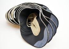 Chaussures de concepteur de production, conférences photo stock