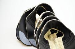 Chaussures de concepteur de production, conférences photographie stock libre de droits