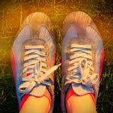 Chaussures de course de sport Image libre de droits