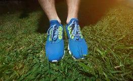 Chaussures de course en gros plan Photo libre de droits