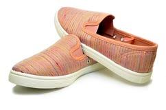 Chaussures de course de sport rose Photo stock