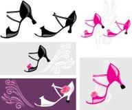 Chaussures de danse Éléments pour la conception Photographie stock libre de droits