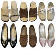 Chaussures de famille Photographie stock libre de droits