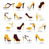 Chaussures de femmes de talons hauts réglées - illustration Photos libres de droits