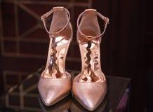 Chaussures de femmes de talon haut Images libres de droits