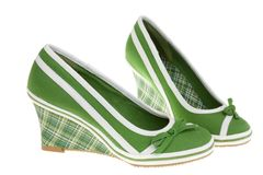 chaussures de filles blanches Image stock
