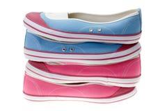 chaussures de filles blanches image libre de droits