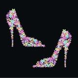 chaussures de fleur Photographie stock