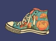 Chaussures de gymnase de modèle Photos stock