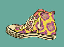 Chaussures de gymnase de modèle Image stock