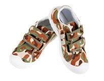 Chaussures de gymnastique des sports des enfants d'isolement Photo libre de droits