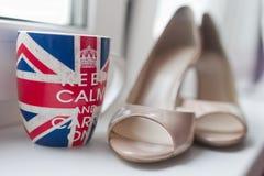 Chaussures de jeunes mariées Photo libre de droits