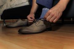 Chaussures de lien Photos stock