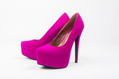 Chaussures de luxe de femme, talons hauts Photos libres de droits