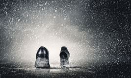 Chaussures de marche Photo stock