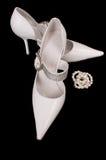 chaussures de mariée Image libre de droits
