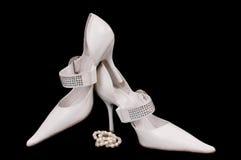 chaussures de mariée Images libres de droits