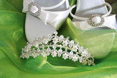 Chaussures de mariage Photo libre de droits