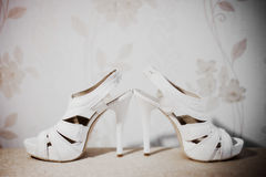 chaussures de mariage image stock