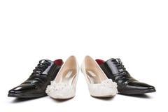 Chaussures de mariage Images libres de droits